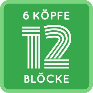 Logo 6 Köpfe 12 Blöcke